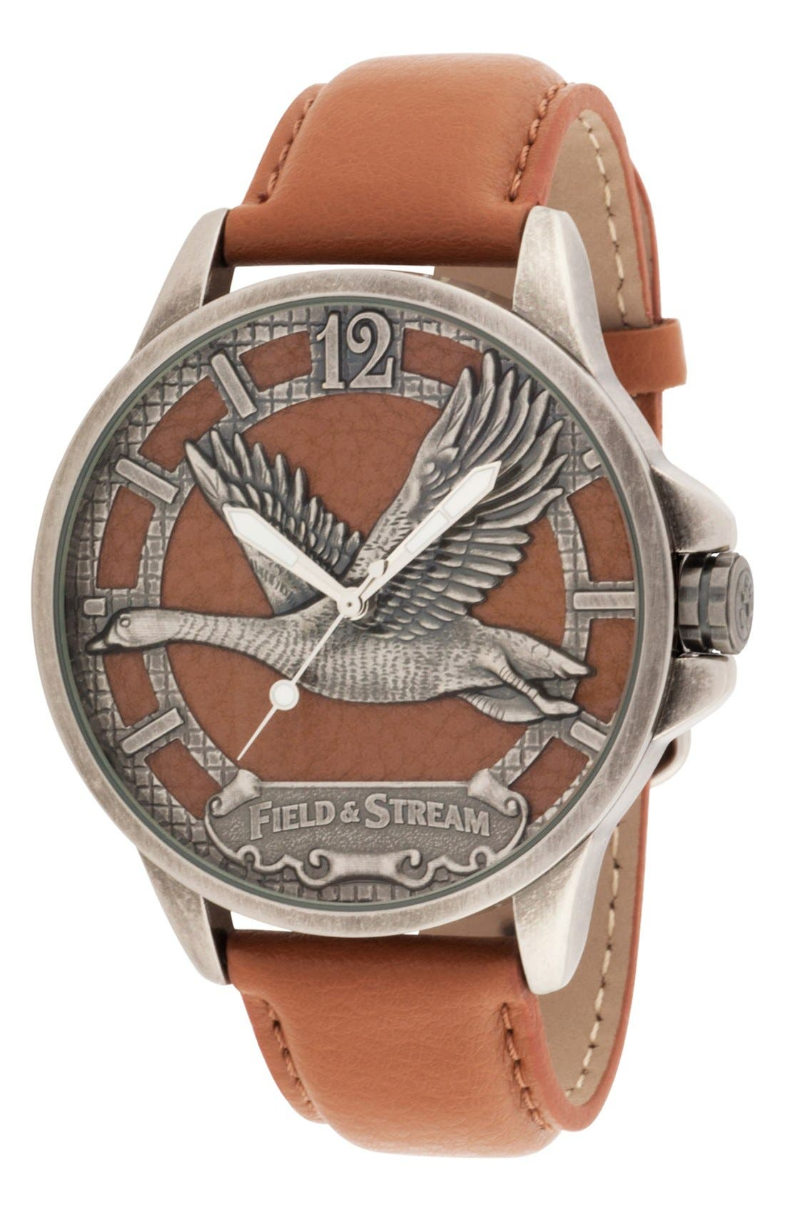 Alternate Image 1 Selected - Field & Stream Molded Goose Dial Watch, 47mm