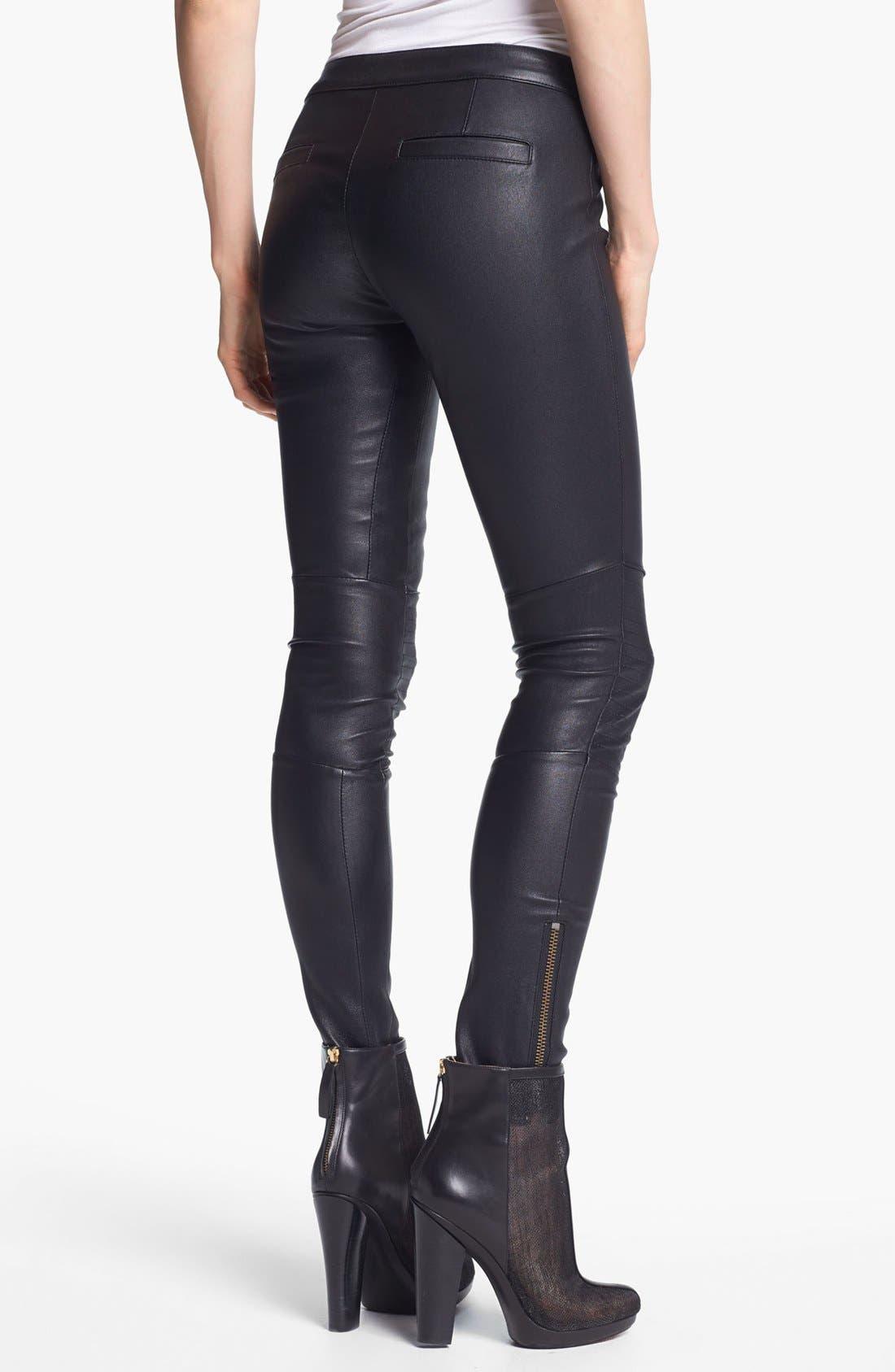 Alternate Image 2  - Rachel Zoe 'Maxine' Skinny Stretch Leather Pants