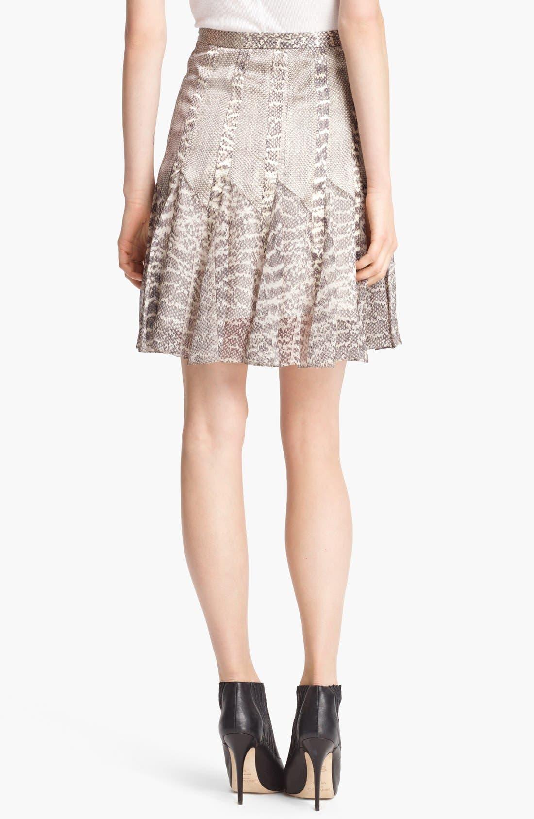 Alternate Image 2  - Jason Wu Snakeskin Print Satin & Chiffon Skirt