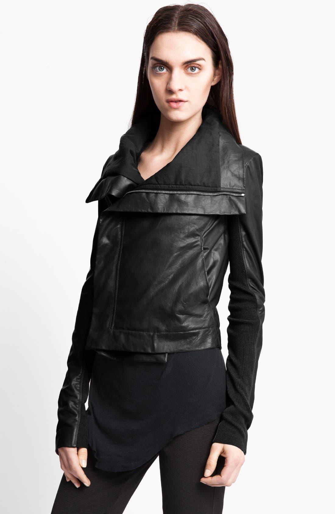 Alternate Image 2  - Rick Owens Leather Biker Jacket