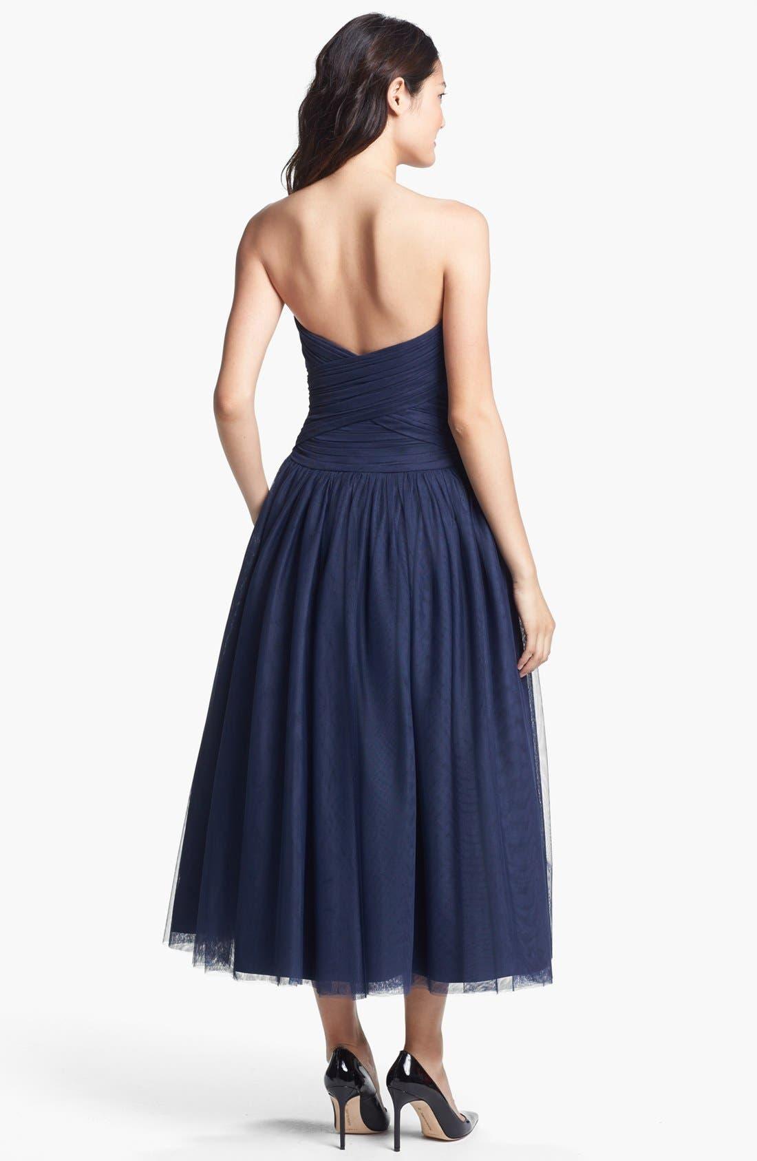 Alternate Image 2  - ML Monique Lhuillier Tulle Fit & Flare Dress