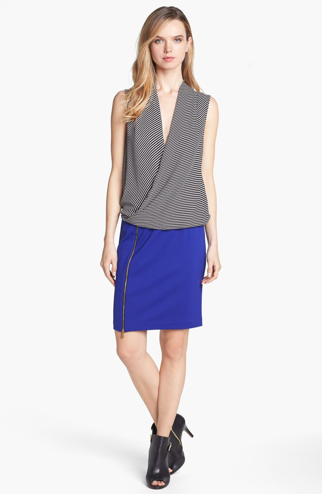 Alternate Image 2  - Vince Camuto Front Zip Pencil Skirt