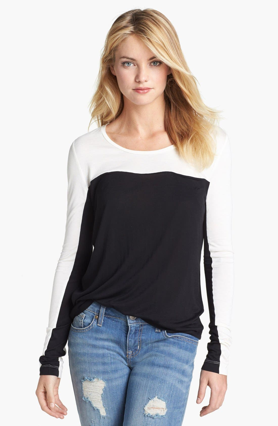 Main Image - Two by Vince Camuto Colorblock Top