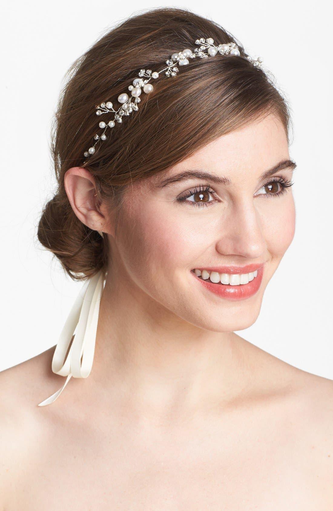 Alternate Image 1 Selected - Tasha Faux Pearl & Crystal Head Wrap