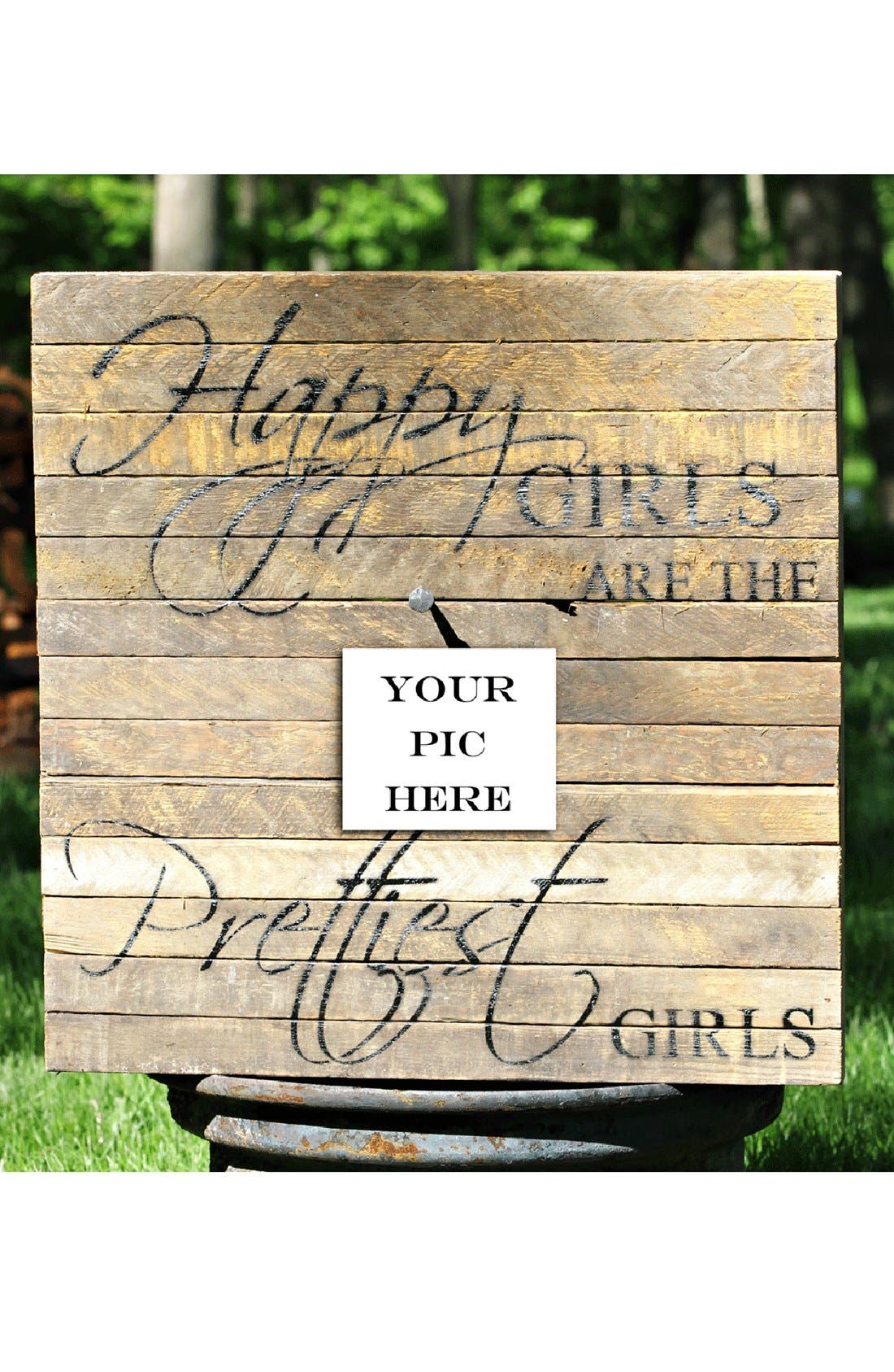Alternate Image 1 Selected - 'Happy Girls' Wood Wall Plaque