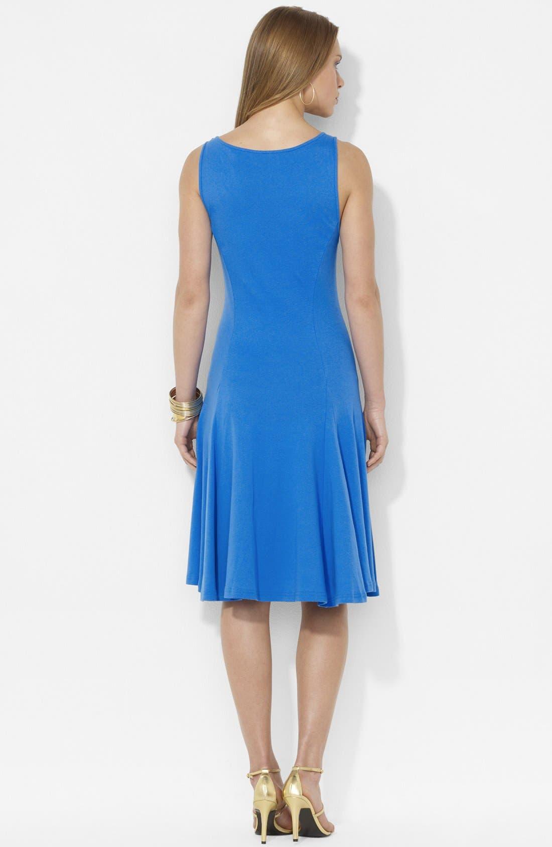 Alternate Image 2  - Lauren Ralph Lauren Lace Inset Sleeveless Dress