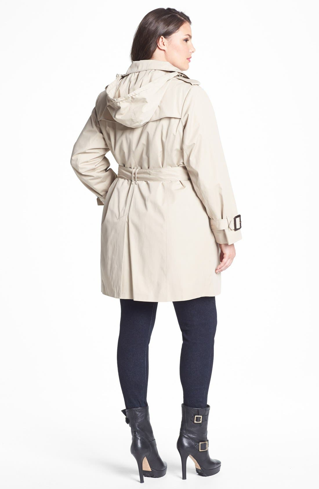 Alternate Image 3  - London Fog Heritage Trench with Detachable Liner (Plus Size)