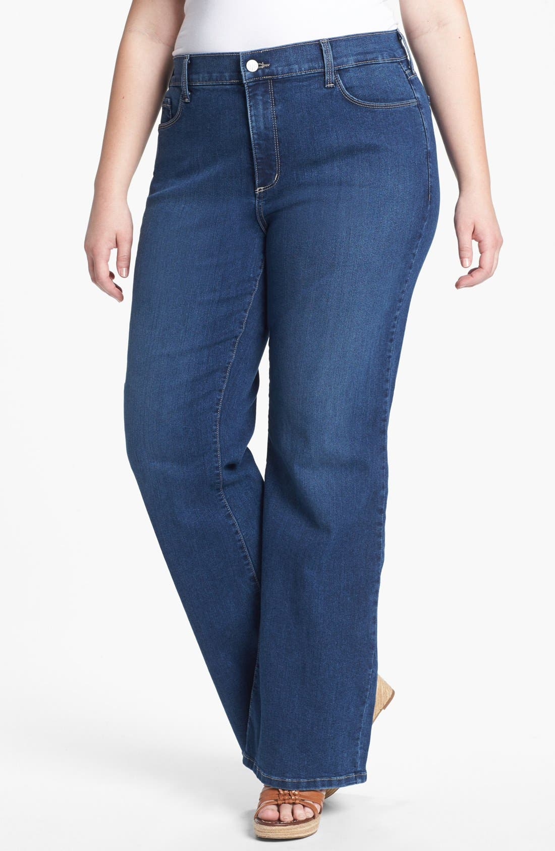Alternate Image 1 Selected - NYDJ 'Sarah' Bootcut Jeans (Plus Size)