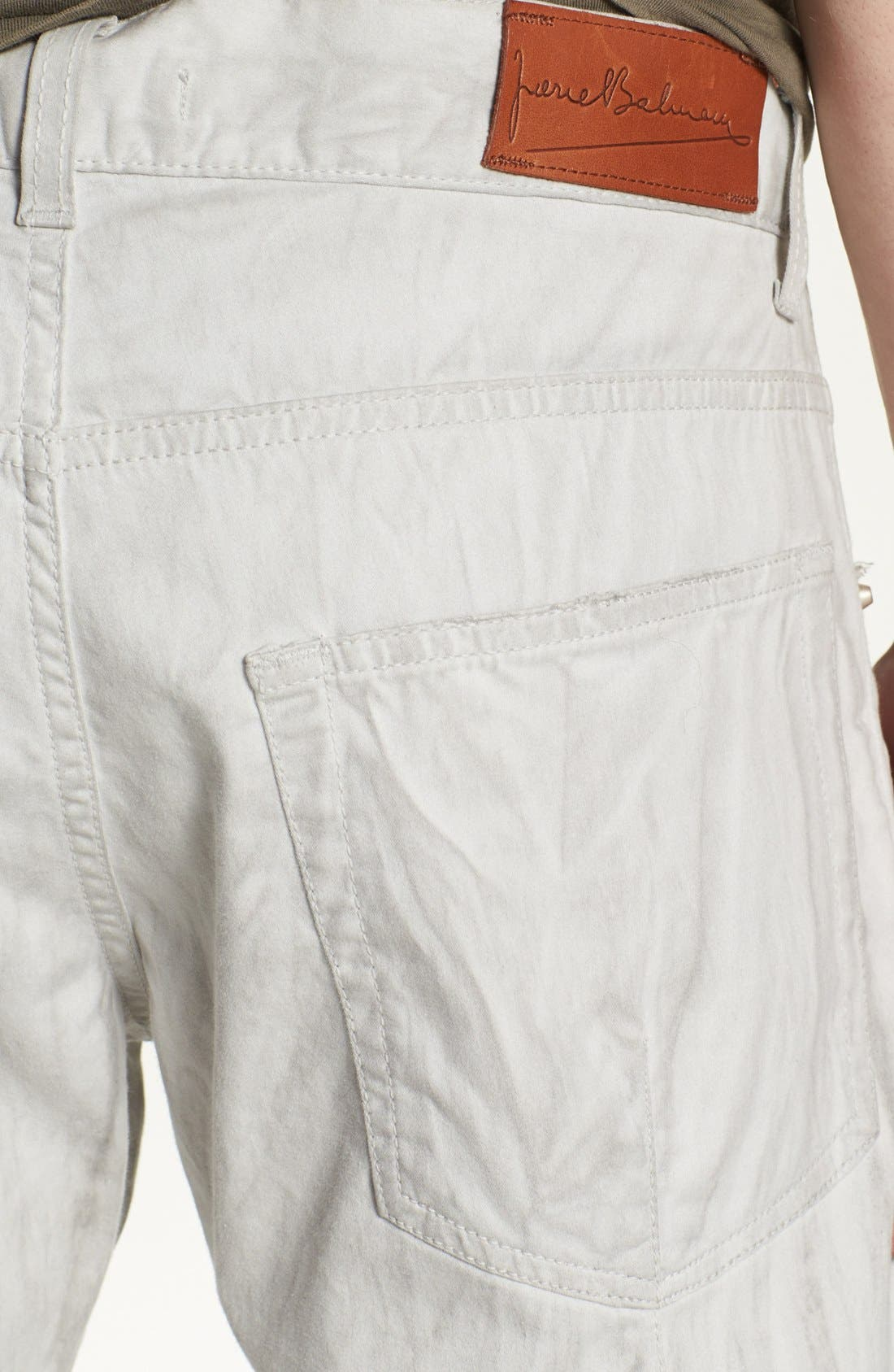 Alternate Image 4  - Pierre Balmain Slim Fit Jeans (Off White) (Online Only)