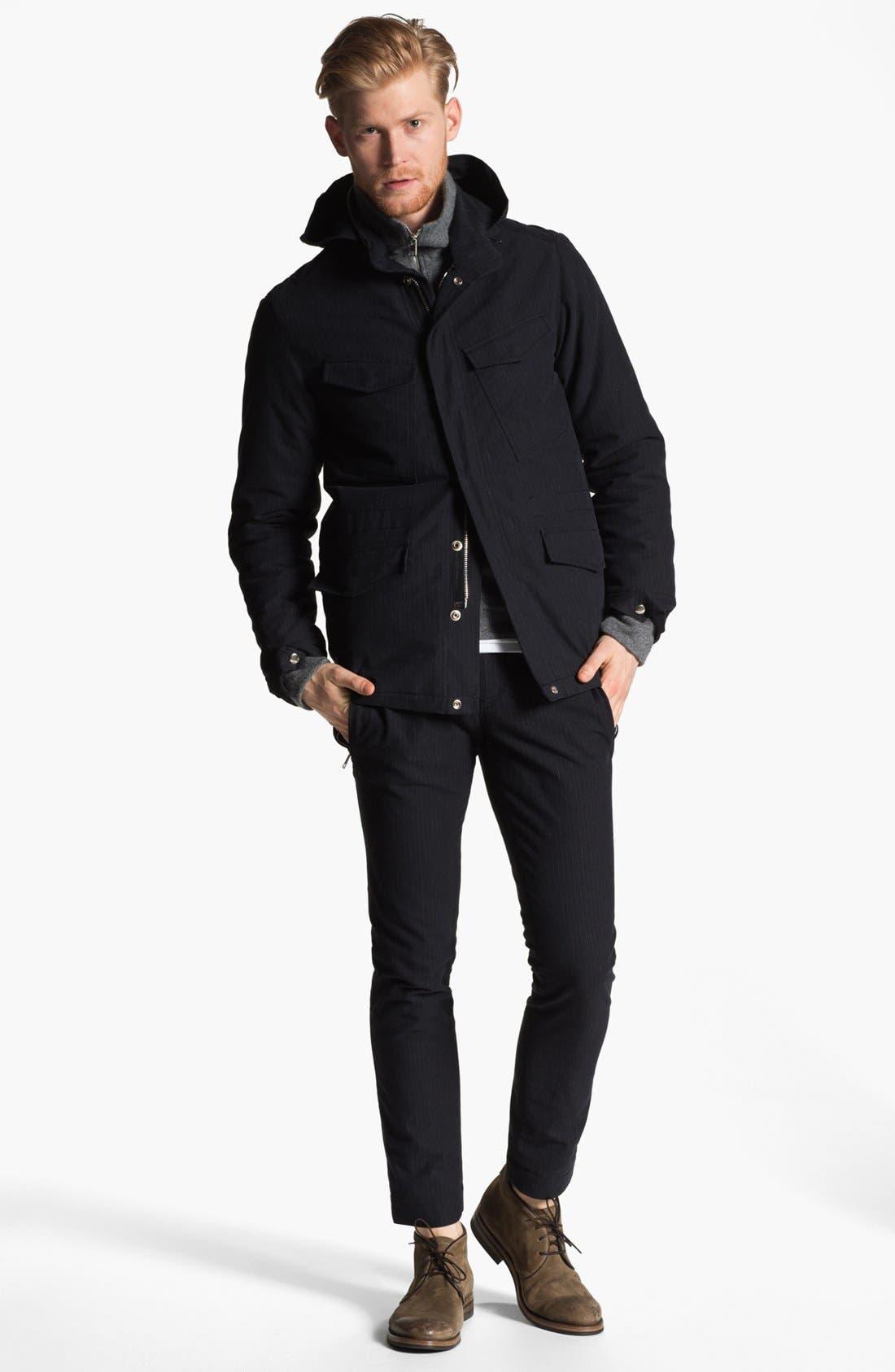 Alternate Image 4  - U Clothing Pinstripe M-65 Field Jacket