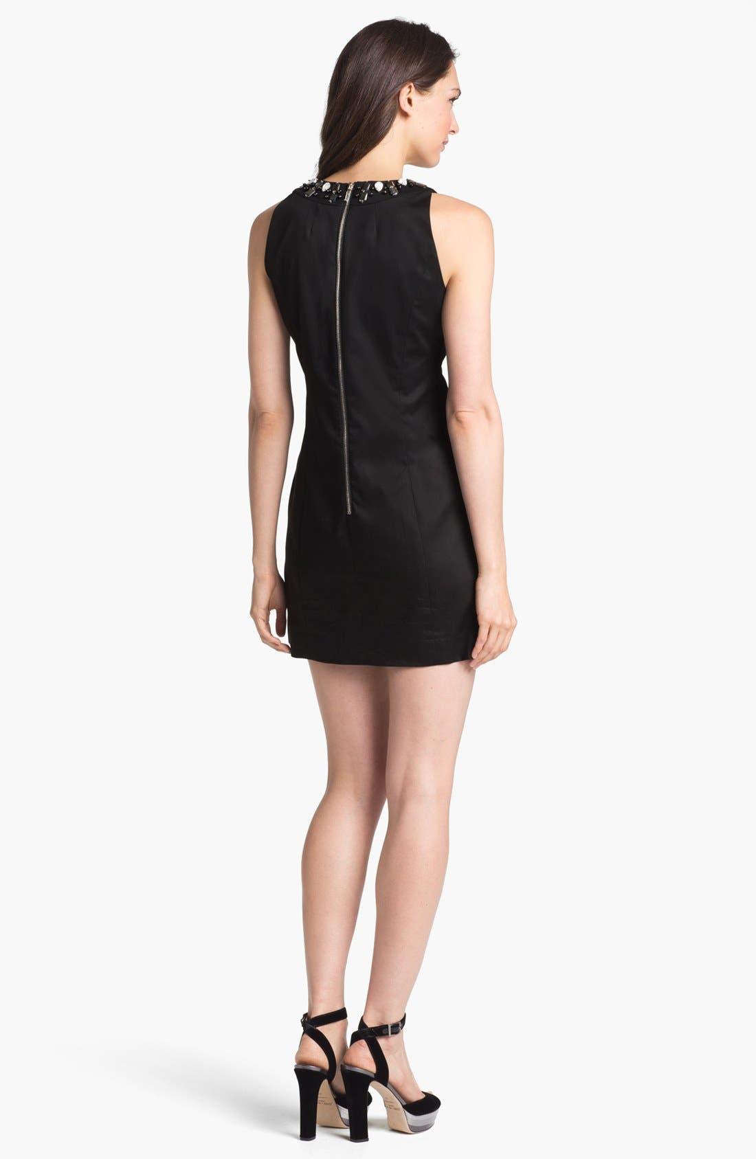 Alternate Image 2  - Milly 'Astrid' Embellished Stretch Cotton Sheath Dress