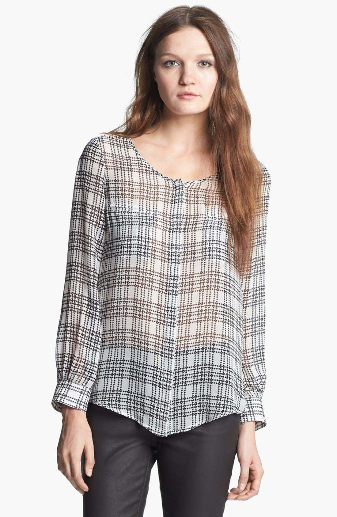 Main Image - Mcginn 'Carly' Houndstooth Print Silk Blouse