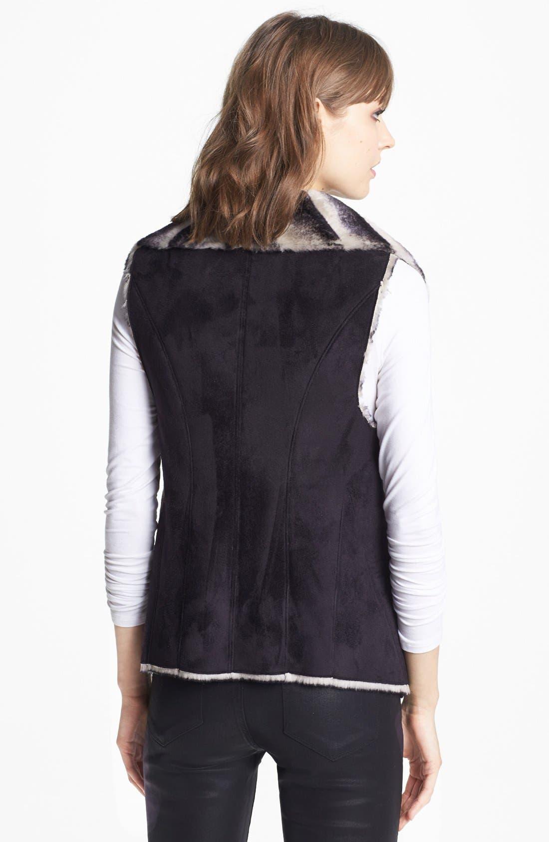 Alternate Image 2  - Sam Edelman Dip Dye Faux Shearling Vest