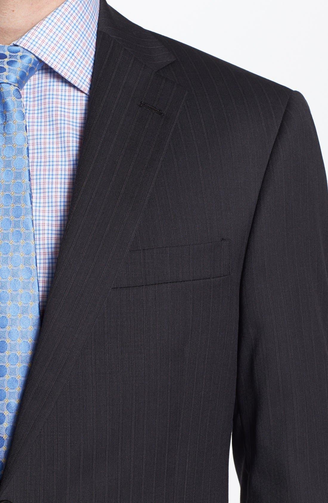 Alternate Image 2  - Hart Schaffner Marx Stripe Wool Suit