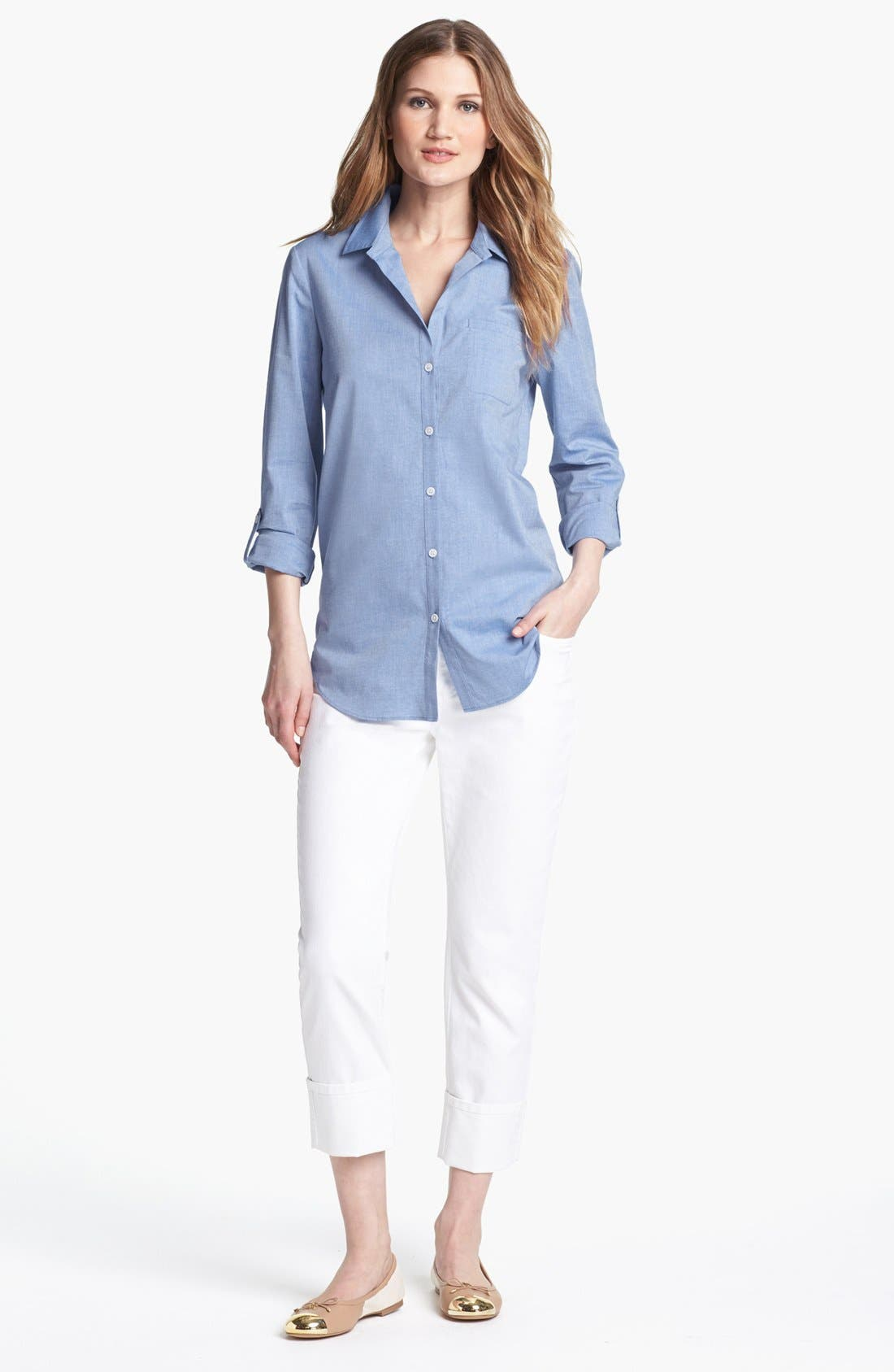 Alternate Image 3  - Lafayette 148 New York Oxford Shirt