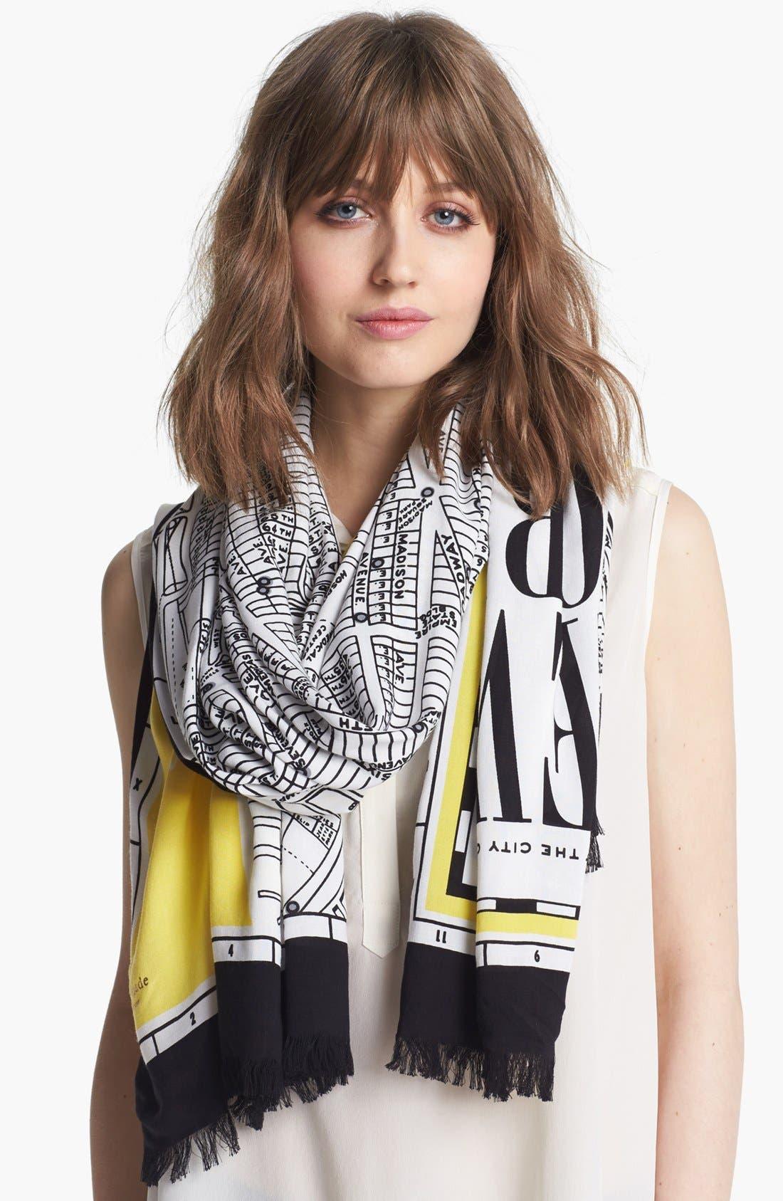 Alternate Image 1 Selected - kate spade new york 'new york map' scarf