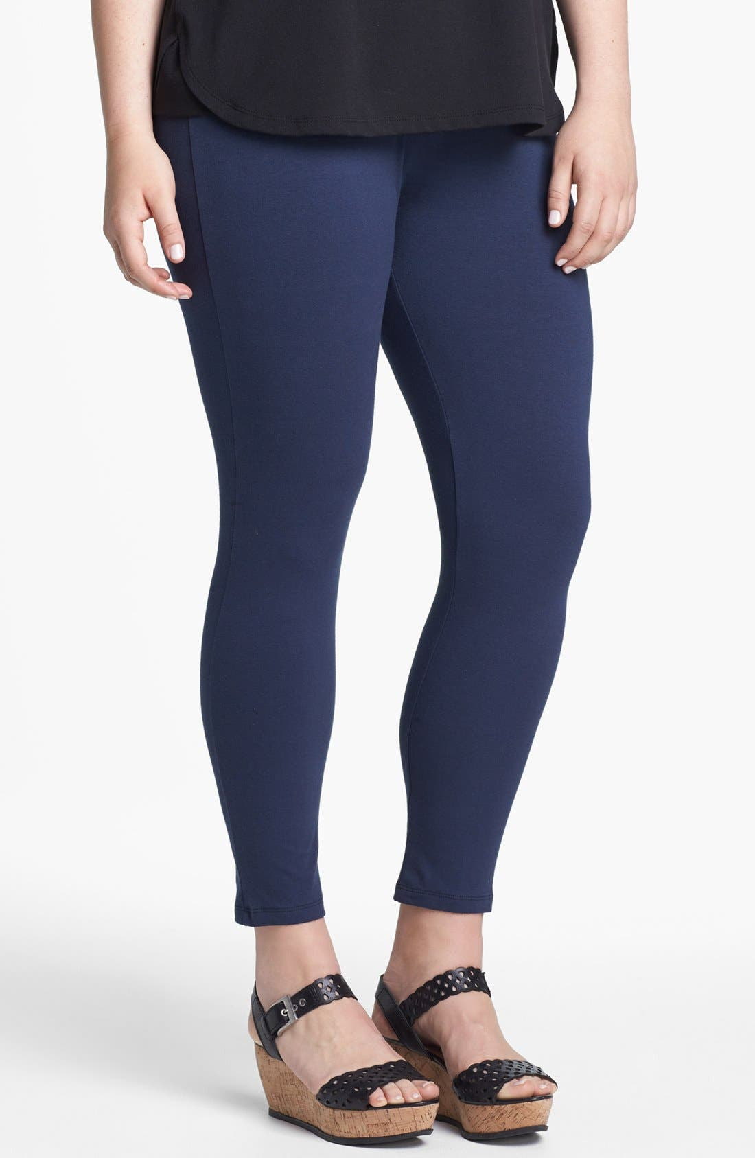 Alternate Image 1 Selected - Lily White Leggings (Juniors Plus)