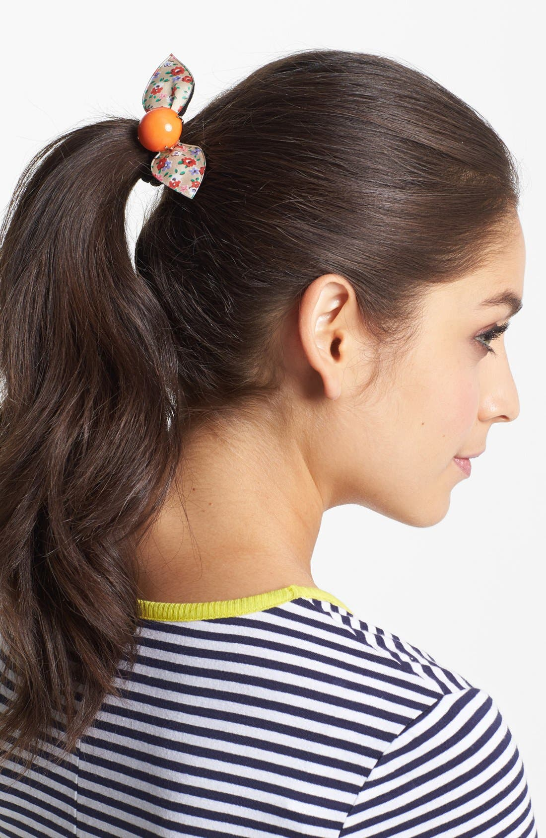 Alternate Image 1 Selected - Cara 'Floral Wings' Ponytail Holder
