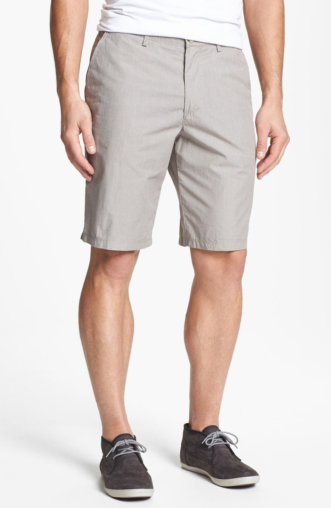 Alternate Image 1 Selected - BOSS HUGO BOSS 'Clyde' Flat Front Shorts