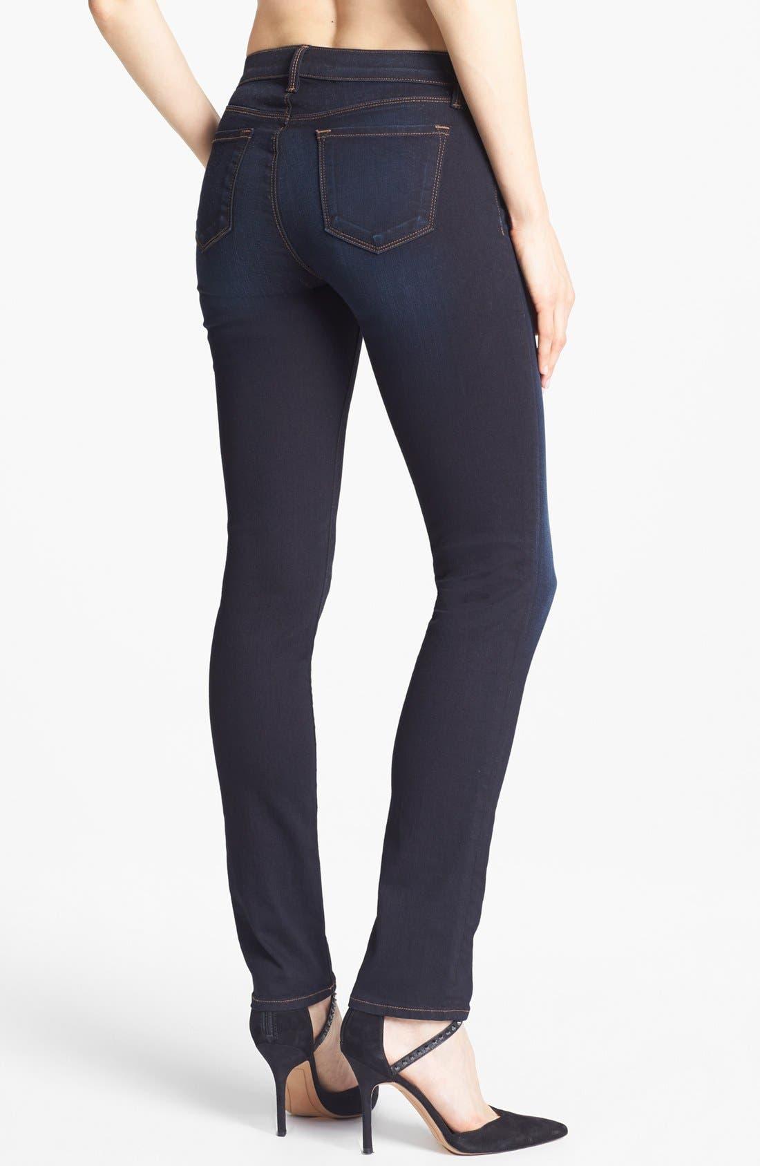 Alternate Image 2  - J Brand '8112 Mid Rise Rail' Skinny Jeans (Atlantis)