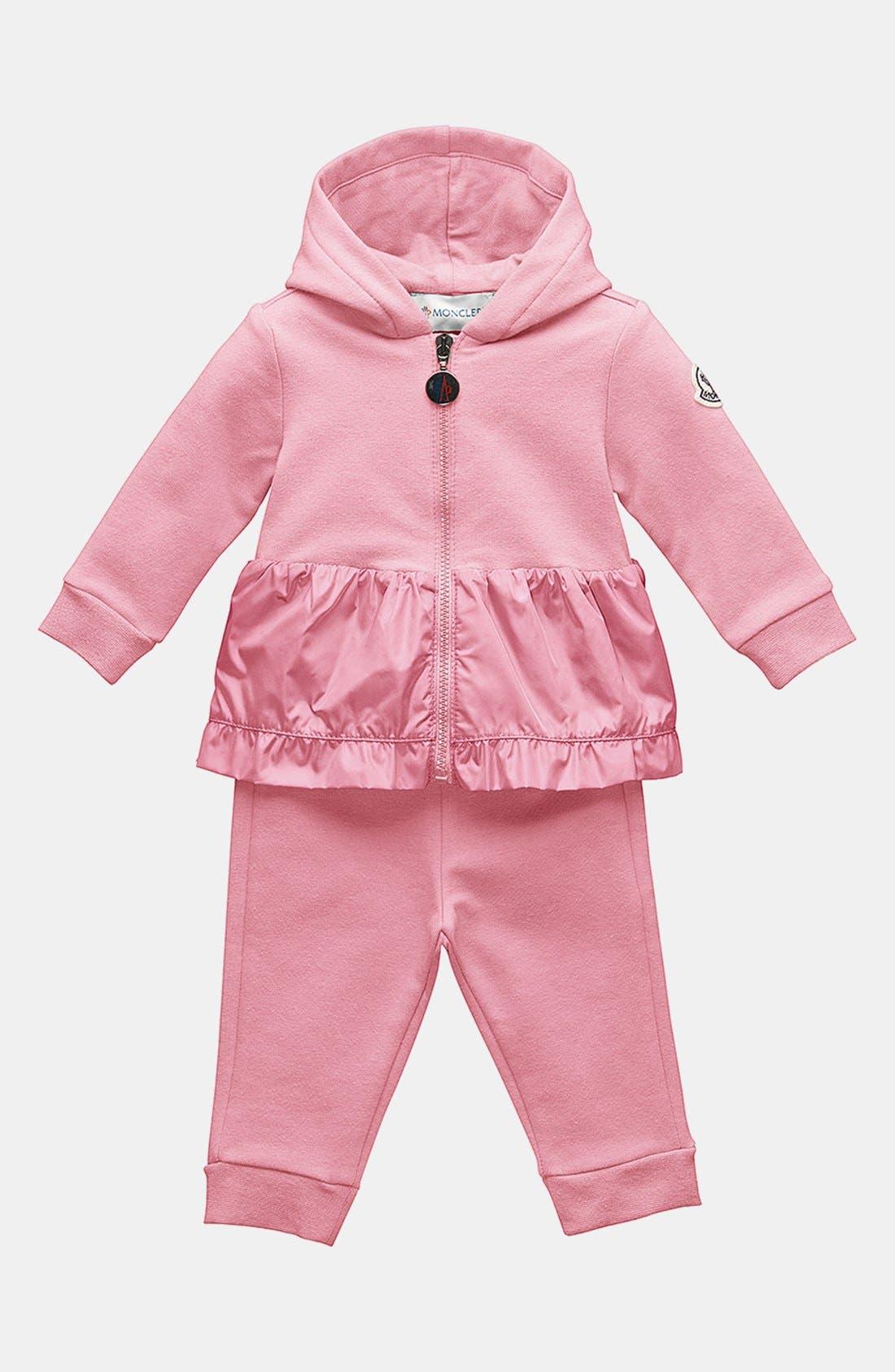 Alternate Image 1 Selected - Moncler Jacket & Pants (Baby Girls)