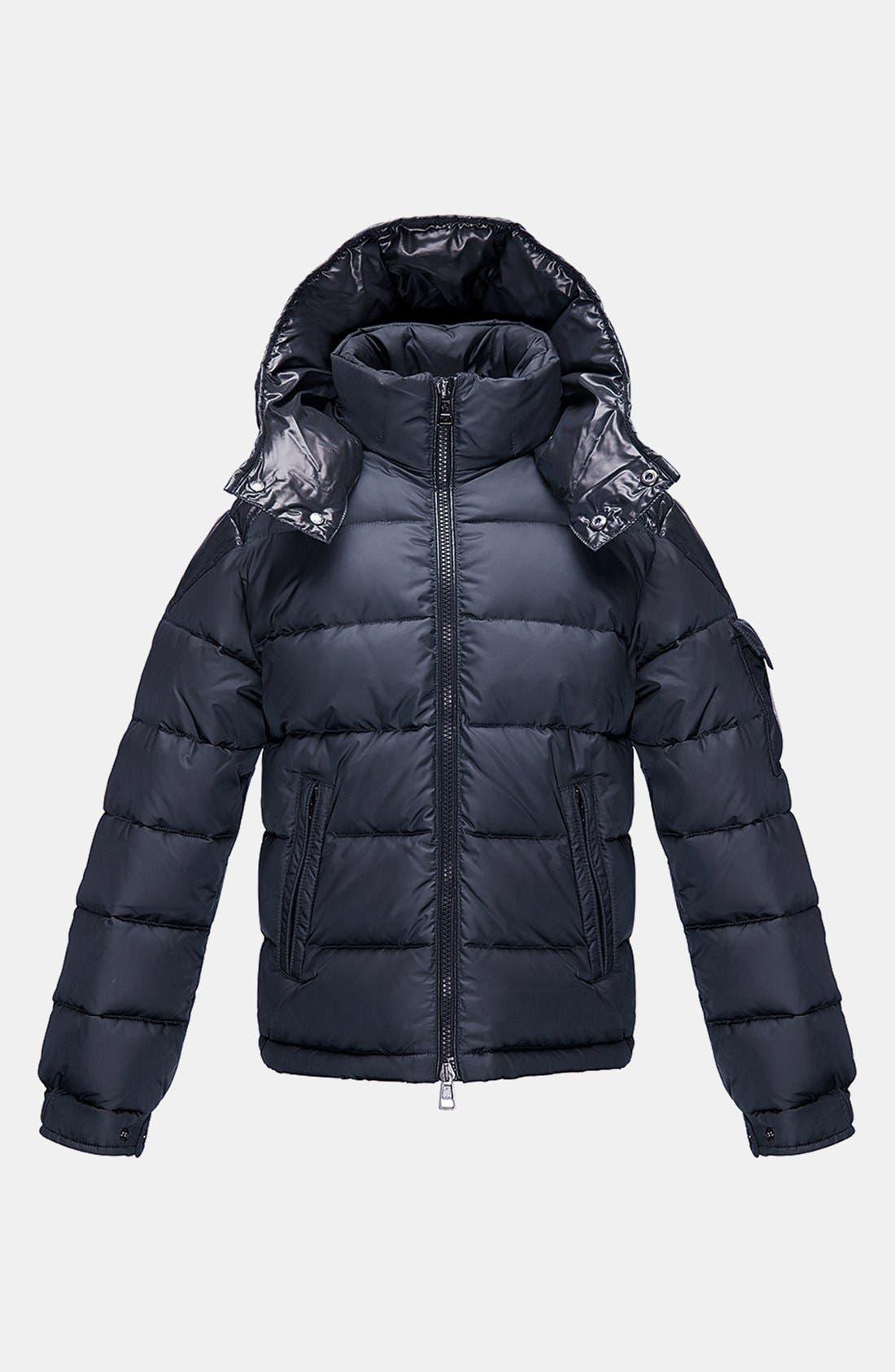 Main Image - Moncler 'Chevalier' Hooded Down Jacket (Toddler Boys, Little Boys & Big Boys)