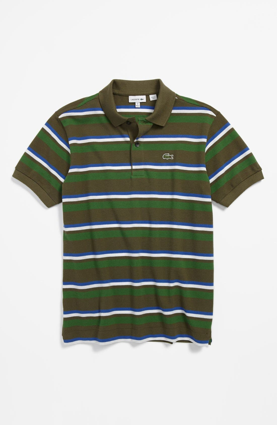 Alternate Image 1 Selected - Lacoste Stripe Polo (Little Boys & Big Boys)