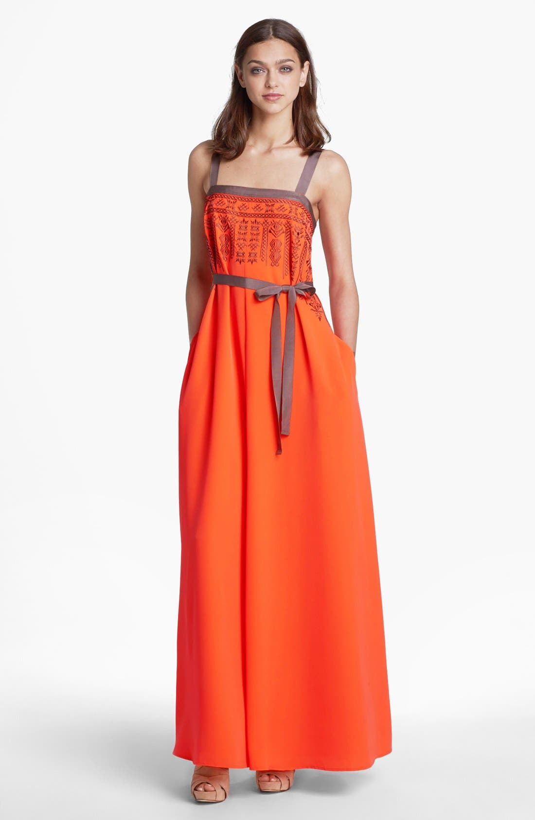 Alternate Image 1 Selected - Jessica Simpson Embroidered Maxi Dress