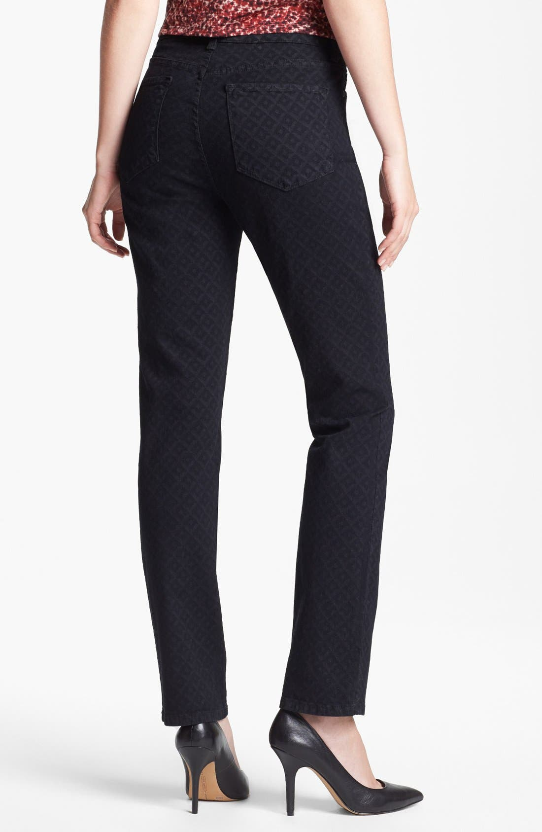 Alternate Image 2  - NYDJ 'Sheri' Print Stretch Skinny Jeans (Regular & Petite)