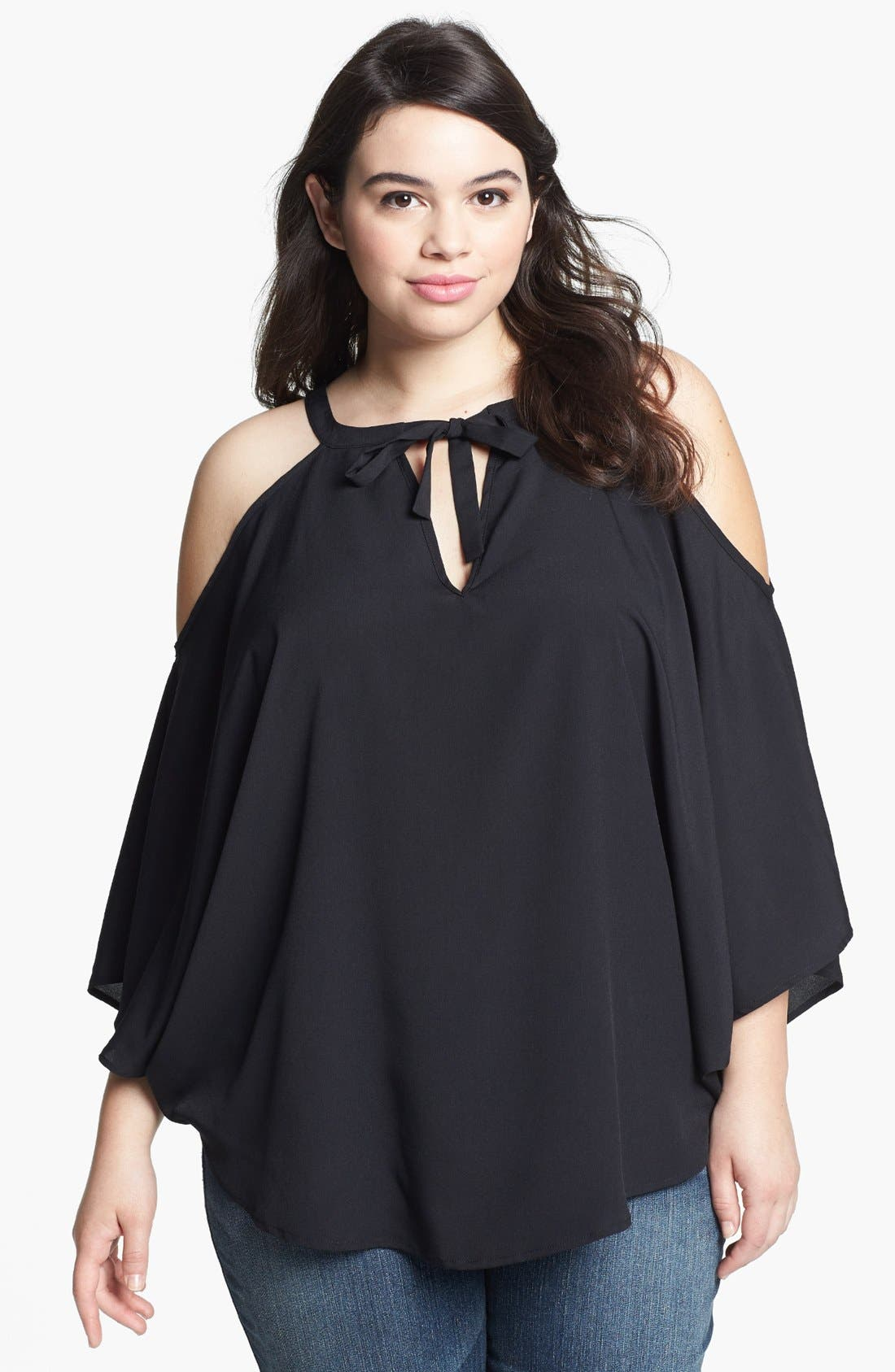Main Image - BB Dakota Cold Shoulder Top (Plus Size)