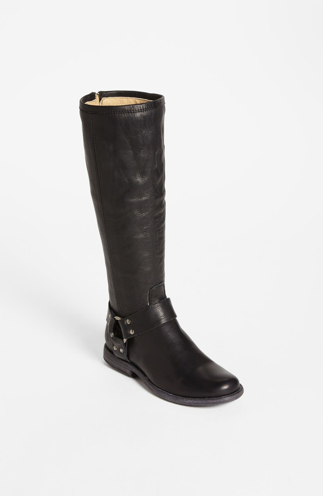 Alternate Image 1 Selected - Frye 'Phillip Harness' Tall Washed Leather Riding Boot (Women)