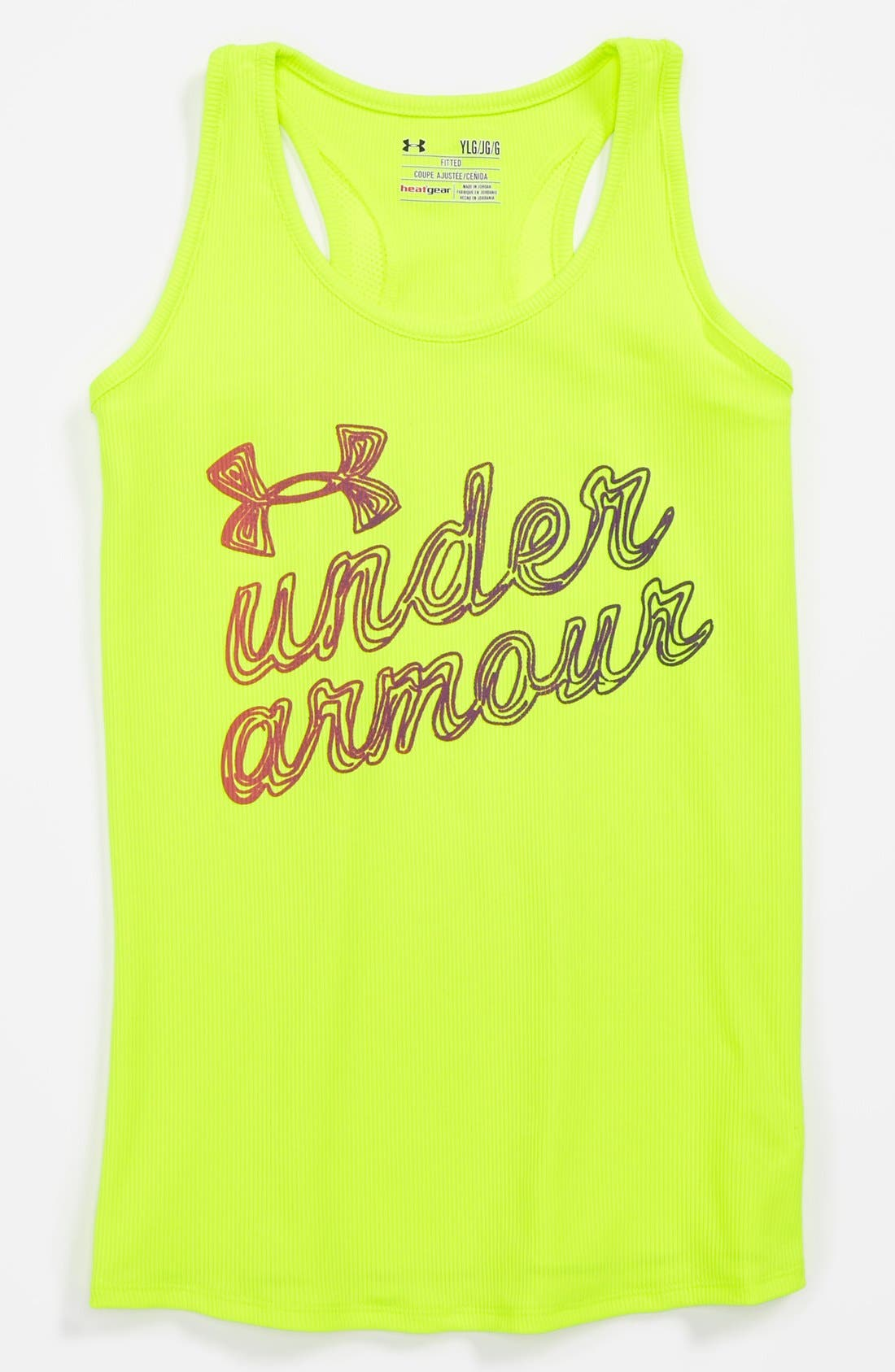 Main Image - Under Armour HeatGear® Tank Top (Big Girls)