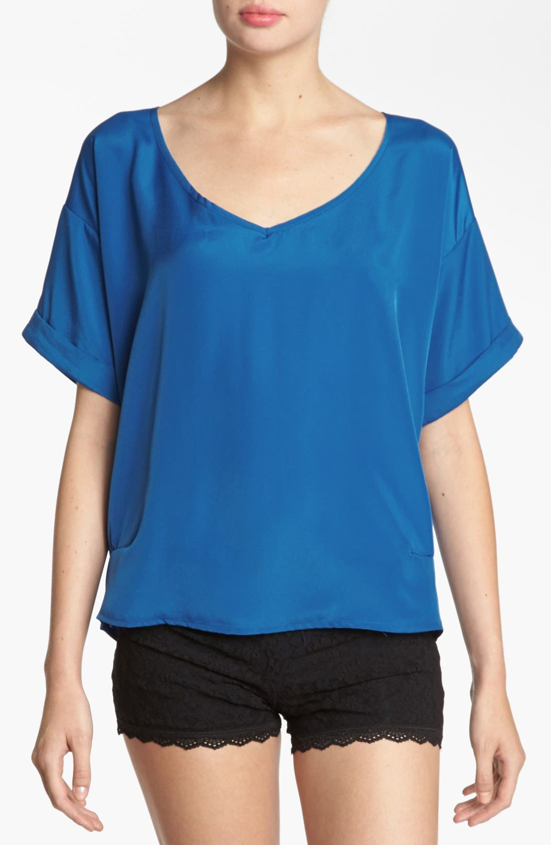 Alternate Image 1 Selected - Like Mynded Back Cutout Top