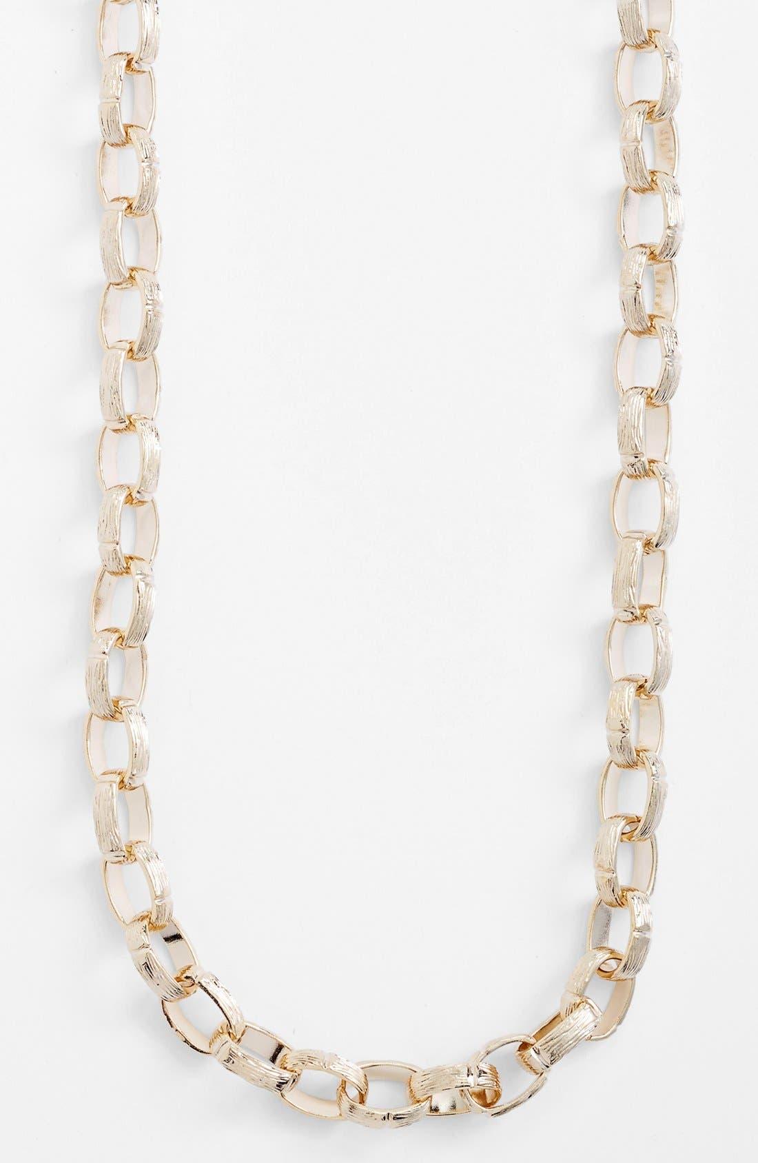 Alternate Image 2  - Nordstrom Long Textured Link Necklace