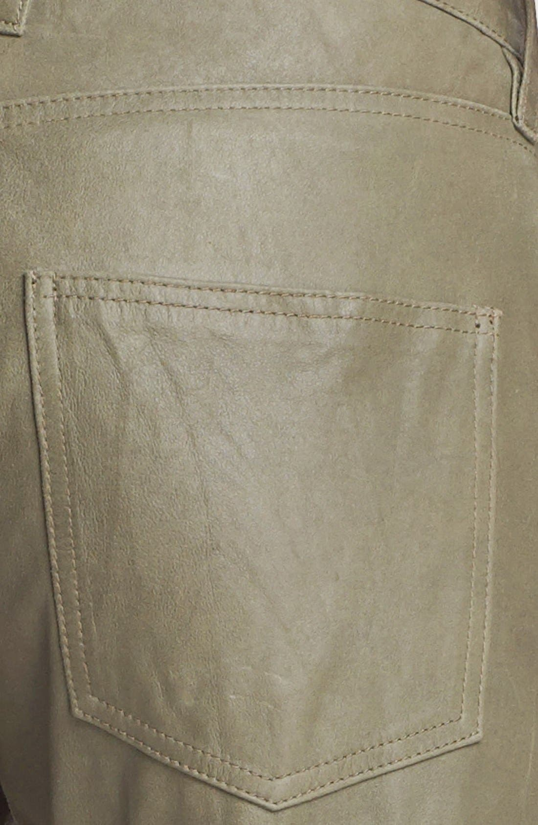 Alternate Image 2  - Current/Elliott 'The Boyfriend' Featherweight Leather Pants