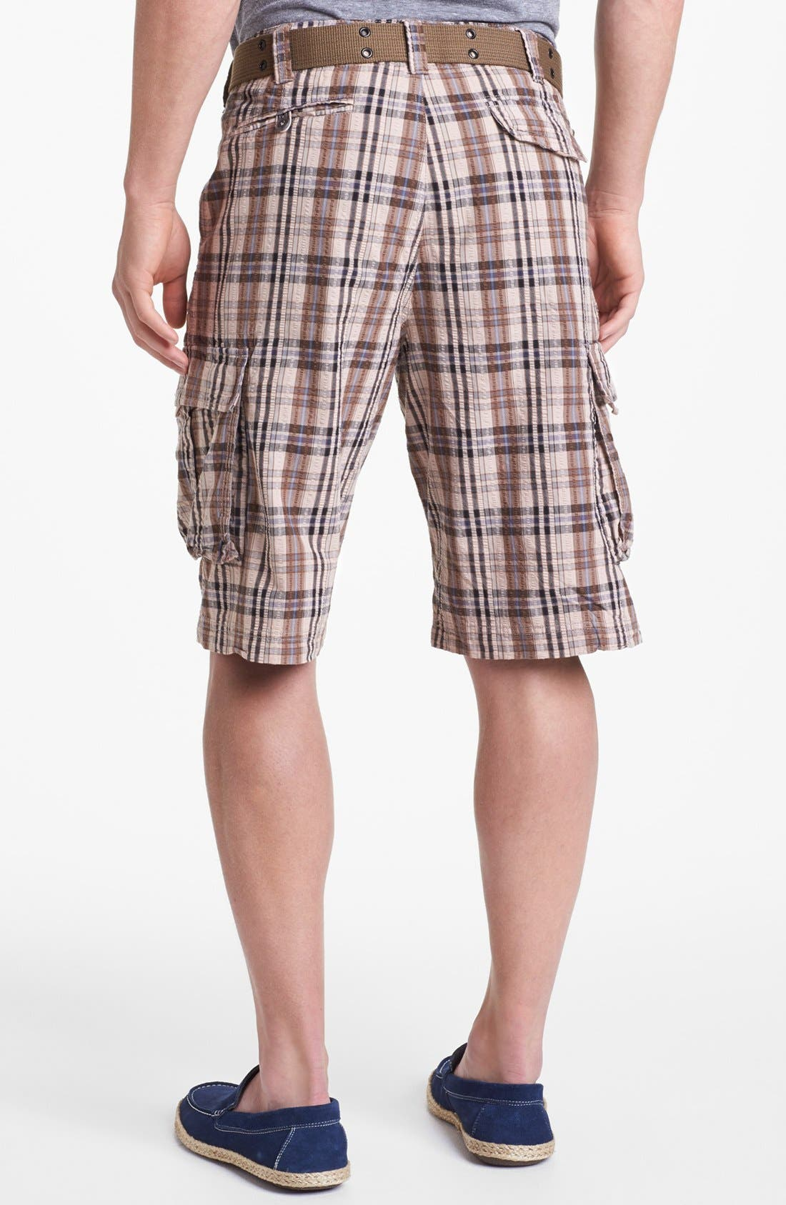 Alternate Image 2  - W.R.K 'Wainscott' Seersucker Cargo Shorts