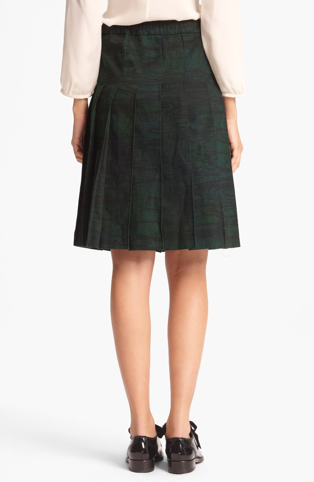 Alternate Image 2  - Marni Pleated Print Gabardine Skirt