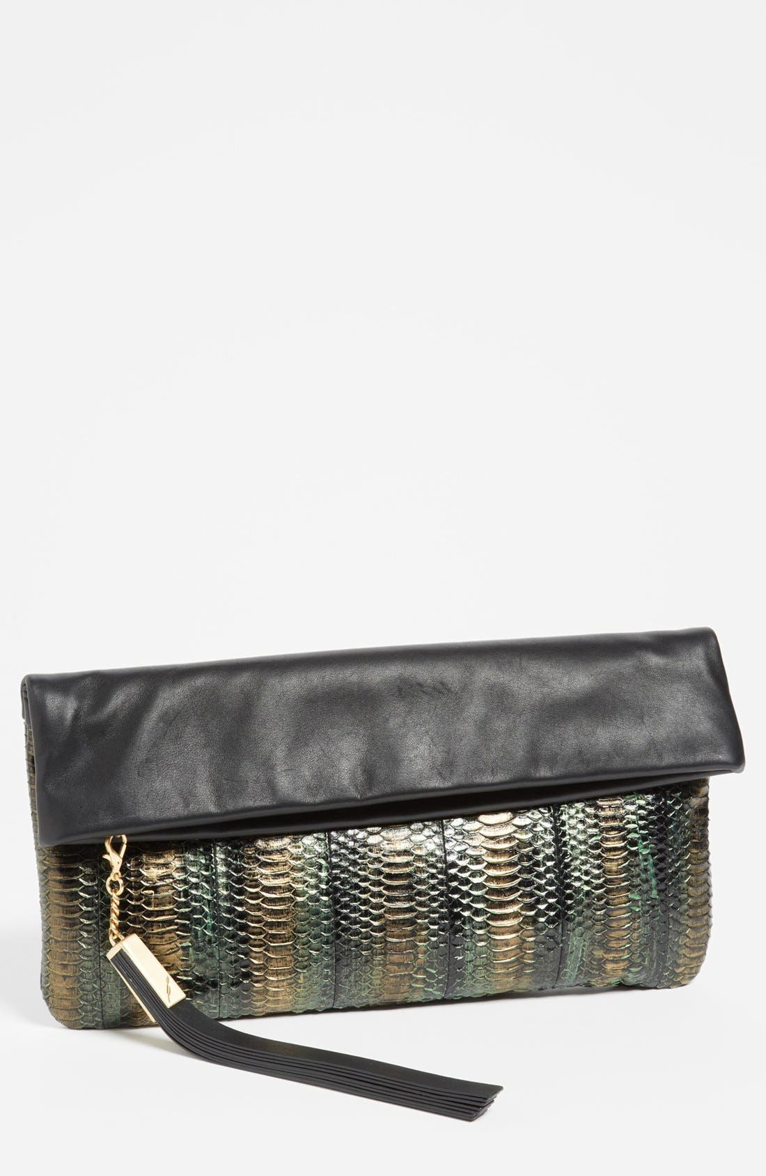 Main Image - B Brian Atwood 'Robin' Leather Foldover Clutch