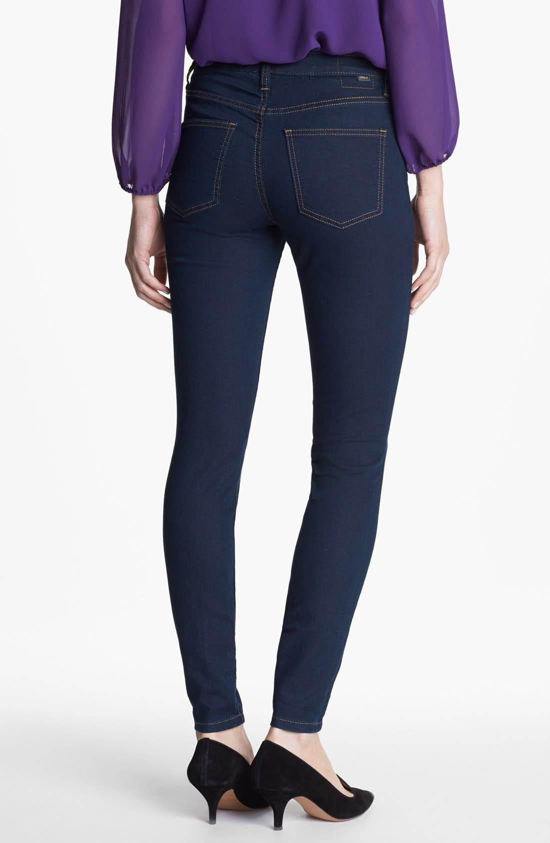 Alternate Image 2  - Jag Jeans 'Olivia' Denim Leggings (Indigo) (Petite)