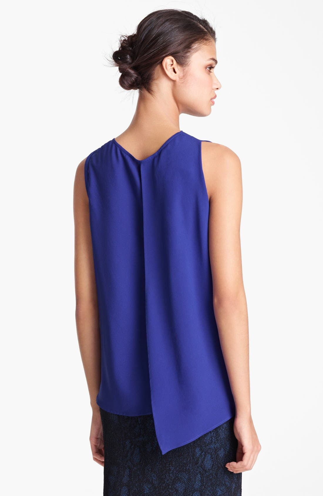 Alternate Image 3  - Yigal Azrouël Sleeveless Silk Georgette Blouse