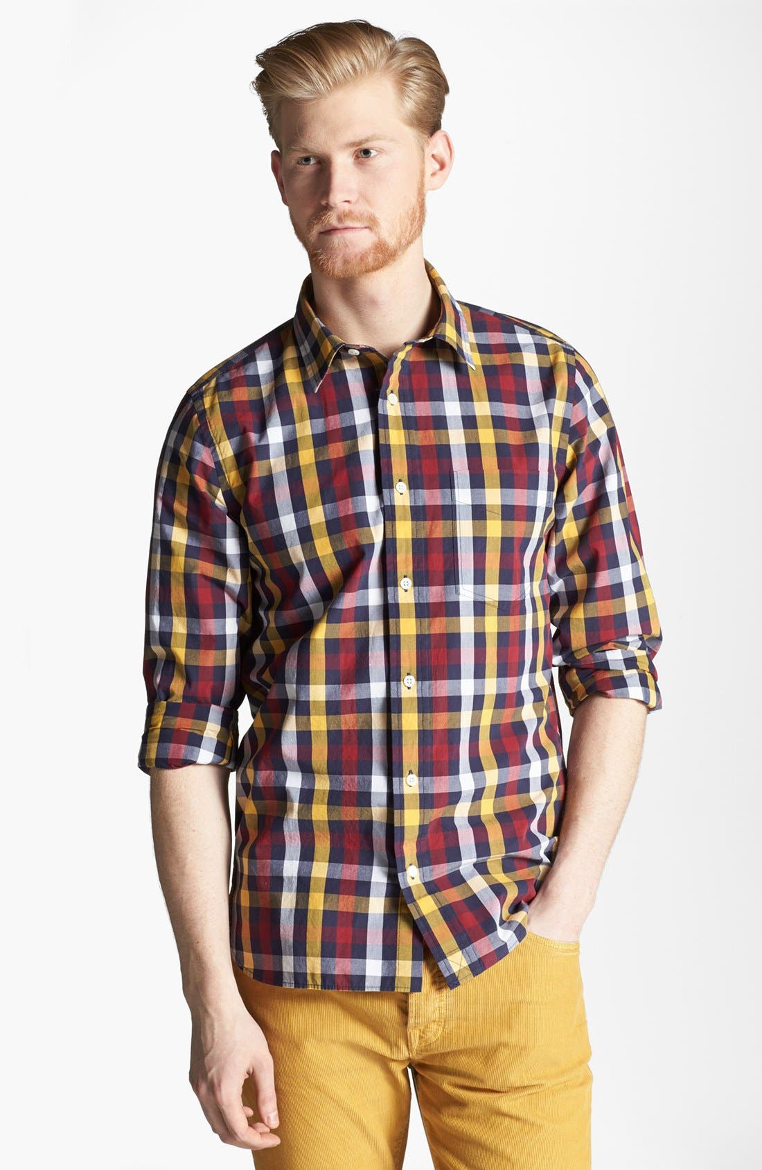 Alternate Image 1 Selected - Jack Spade 'Sid' Plaid Woven Shirt