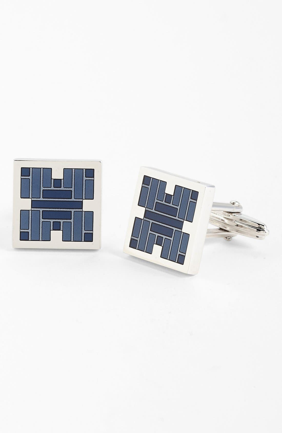 Main Image - Lanvin Rectangle Crystal Cuff Links