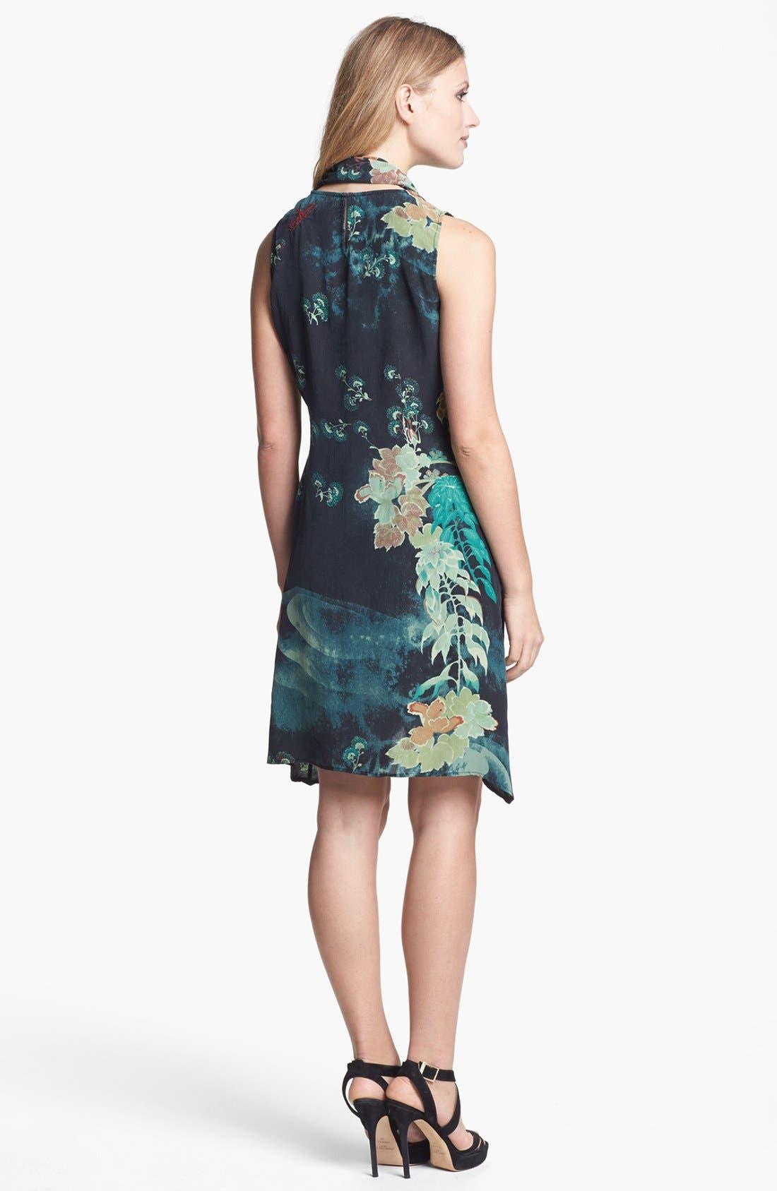 Alternate Image 2  - Citron Silk Dress with Scarf