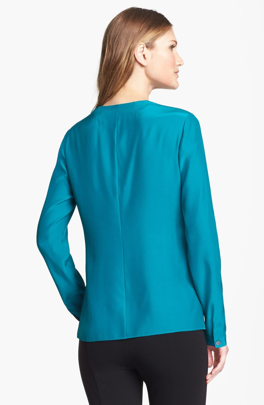 Alternate Image 2  - Lafayette 148 New York 'Ainslee' Silk Blouse