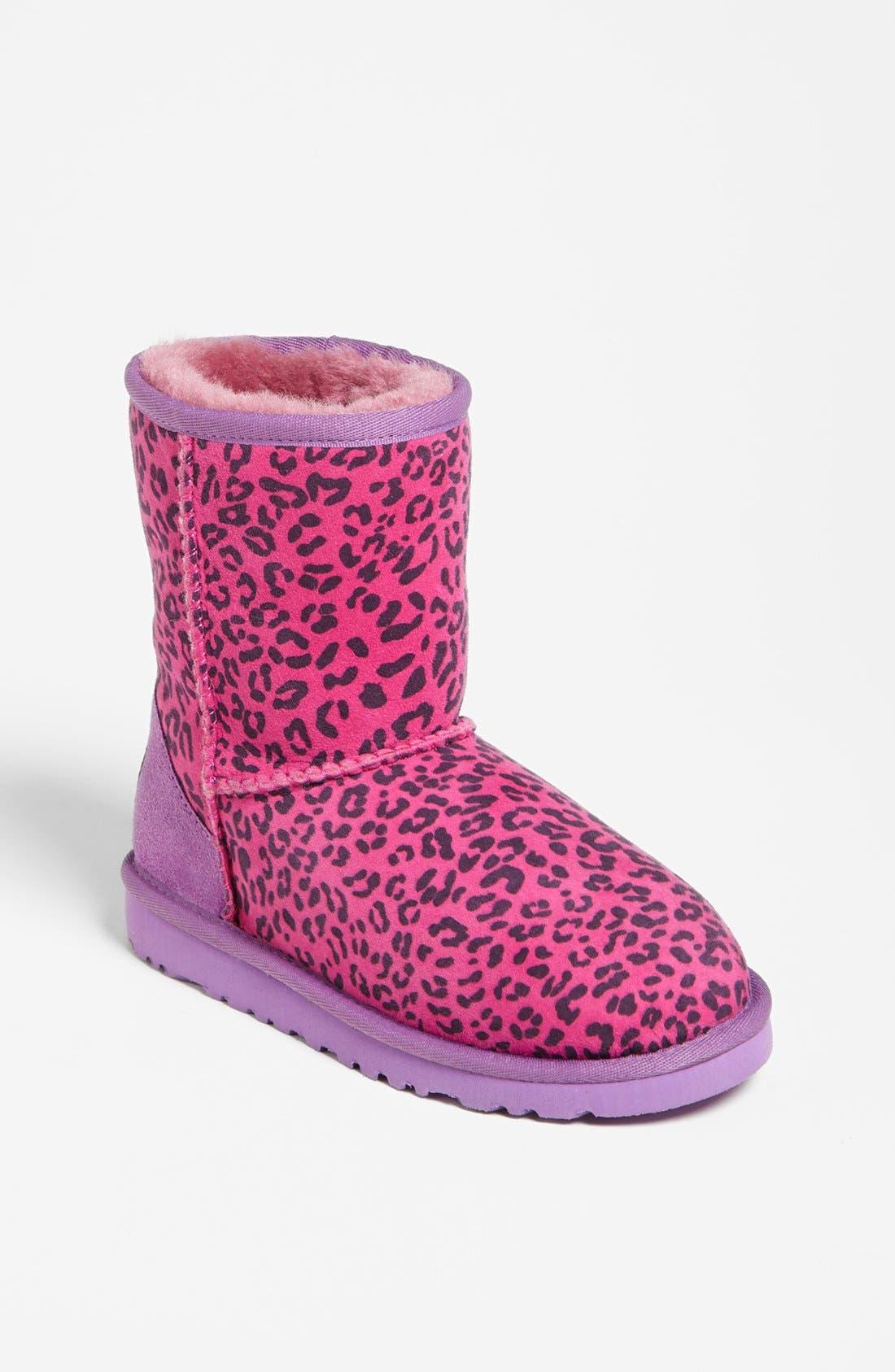 Main Image - UGG® Australia Leopard Print Short Boot (Walker, Toddler, Little Kid & Big Kid)(Nordstrom Exclusive)