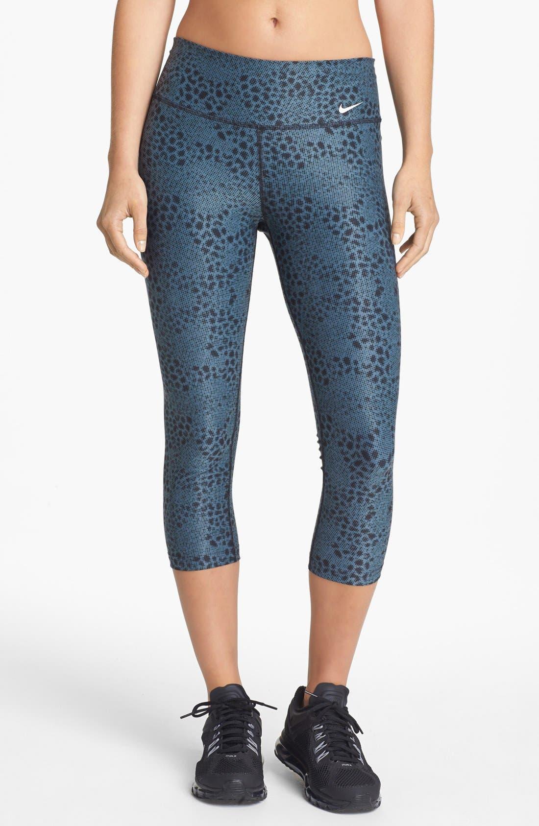 Main Image - Nike 'Legend 2.0 Tight Poly' Print Capri Leggings