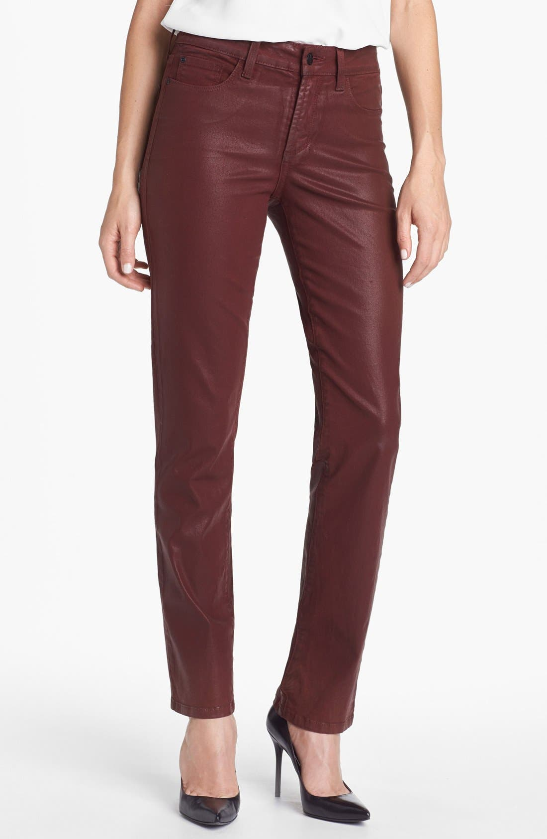Main Image - NYDJ 'Sheri' Coated Stretch Skinny Jeans