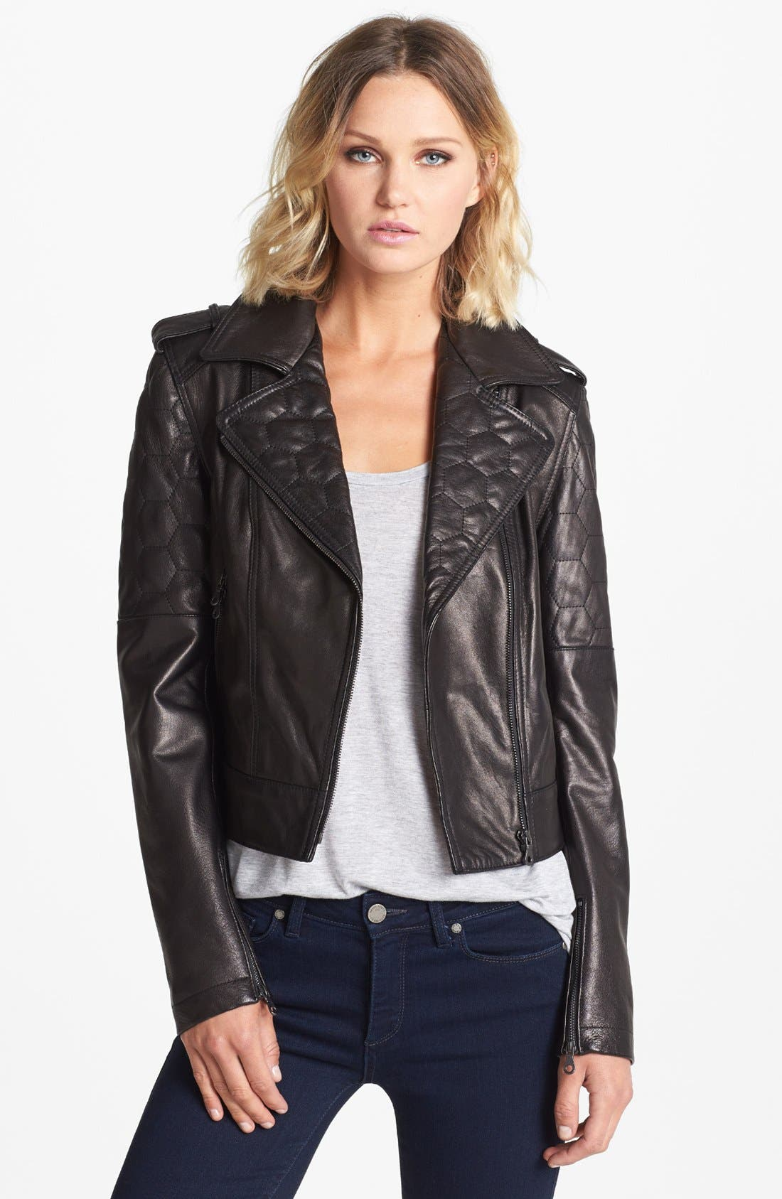 Main Image - Paige Denim 'Sacha' Leather Jacket