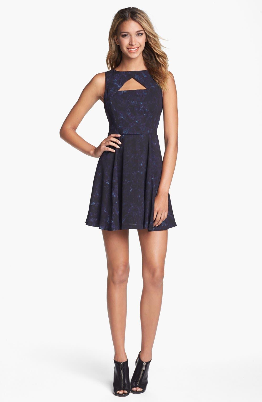 Alternate Image 3  - BB Dakota 'Della' Print Fit & Flare Dress