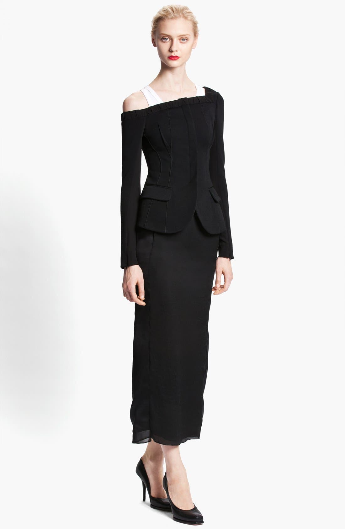 Alternate Image 2  - Nina Ricci Long Satin Skirt